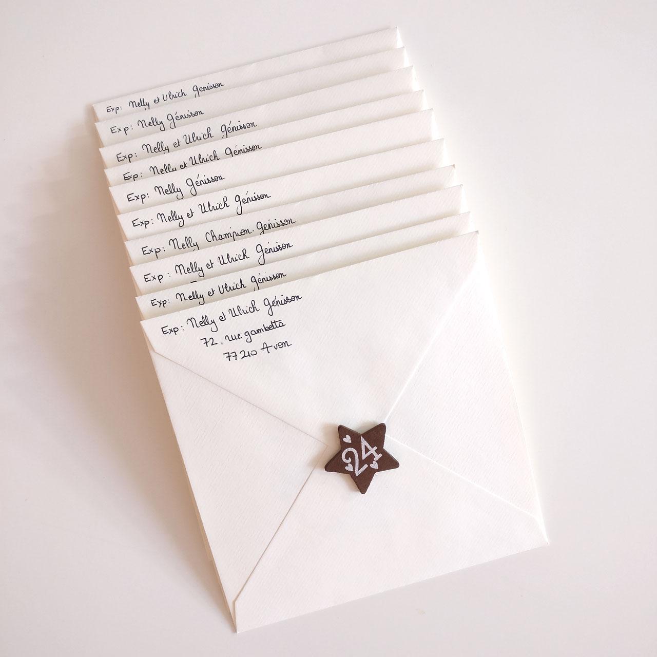 Tutoriel carte de voeux papier ensemencé