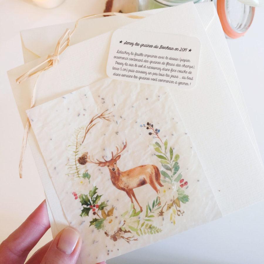 Etiquettes à imprimer pour cartes de voeux à planter